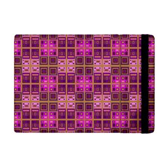 Mod Pink Purple Yellow Square Pattern Apple Ipad Mini Flip Case
