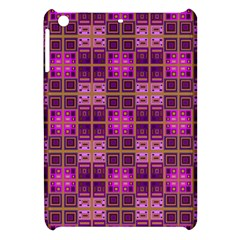 Mod Pink Purple Yellow Square Pattern Apple Ipad Mini Hardshell Case