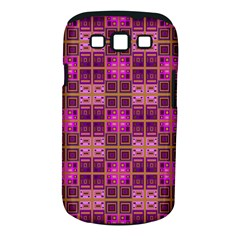 Mod Pink Purple Yellow Square Pattern Samsung Galaxy S Iii Classic Hardshell Case (pc+silicone)