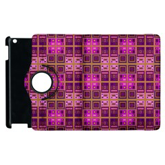 Mod Pink Purple Yellow Square Pattern Apple Ipad 2 Flip 360 Case