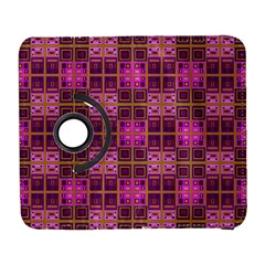Mod Pink Purple Yellow Square Pattern Samsung Galaxy S  Iii Flip 360 Case by BrightVibesDesign