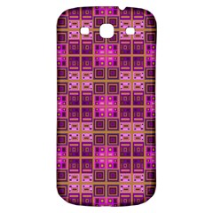 Mod Pink Purple Yellow Square Pattern Samsung Galaxy S3 S Iii Classic Hardshell Back Case