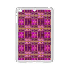 Mod Pink Purple Yellow Square Pattern Ipad Mini 2 Enamel Coated Cases