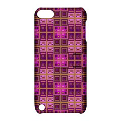 Mod Pink Purple Yellow Square Pattern Apple Ipod Touch 5 Hardshell Case With Stand