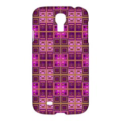 Mod Pink Purple Yellow Square Pattern Samsung Galaxy S4 I9500/i9505 Hardshell Case