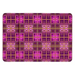 Mod Pink Purple Yellow Square Pattern Samsung Galaxy Tab 8 9  P7300 Flip Case