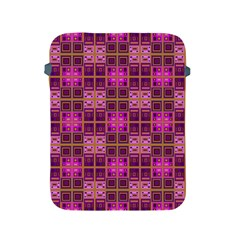 Mod Pink Purple Yellow Square Pattern Apple Ipad 2/3/4 Protective Soft Cases
