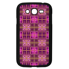 Mod Pink Purple Yellow Square Pattern Samsung Galaxy Grand Duos I9082 Case (black)