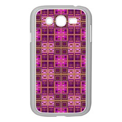 Mod Pink Purple Yellow Square Pattern Samsung Galaxy Grand Duos I9082 Case (white)