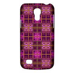 Mod Pink Purple Yellow Square Pattern Samsung Galaxy S4 Mini (gt I9190) Hardshell Case