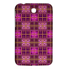 Mod Pink Purple Yellow Square Pattern Samsung Galaxy Tab 3 (7 ) P3200 Hardshell Case