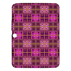 Mod Pink Purple Yellow Square Pattern Samsung Galaxy Tab 3 (10 1 ) P5200 Hardshell Case
