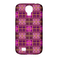 Mod Pink Purple Yellow Square Pattern Samsung Galaxy S4 Classic Hardshell Case (pc+silicone)