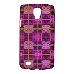 Mod Pink Purple Yellow Square Pattern Samsung Galaxy S4 Active (i9295) Hardshell Case