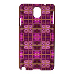 Mod Pink Purple Yellow Square Pattern Samsung Galaxy Note 3 N9005 Hardshell Case