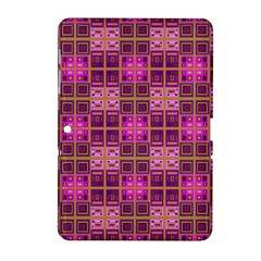Mod Pink Purple Yellow Square Pattern Samsung Galaxy Tab 2 (10 1 ) P5100 Hardshell Case