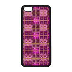 Mod Pink Purple Yellow Square Pattern Apple Iphone 5c Seamless Case (black)