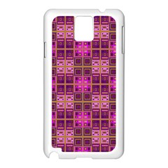 Mod Pink Purple Yellow Square Pattern Samsung Galaxy Note 3 N9005 Case (white)