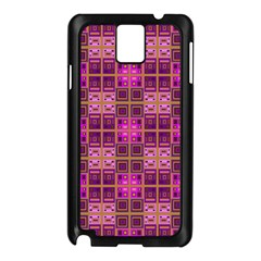 Mod Pink Purple Yellow Square Pattern Samsung Galaxy Note 3 N9005 Case (black)