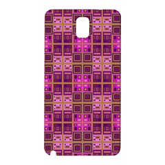 Mod Pink Purple Yellow Square Pattern Samsung Galaxy Note 3 N9005 Hardshell Back Case