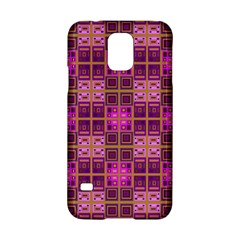 Mod Pink Purple Yellow Square Pattern Samsung Galaxy S5 Hardshell Case