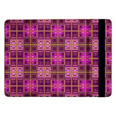 Mod Pink Purple Yellow Square Pattern Samsung Galaxy Tab Pro 12 2  Flip Case