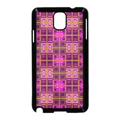 Mod Pink Purple Yellow Square Pattern Samsung Galaxy Note 3 Neo Hardshell Case (black)