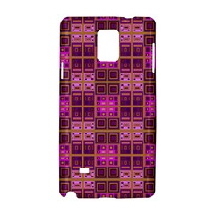 Mod Pink Purple Yellow Square Pattern Samsung Galaxy Note 4 Hardshell Case