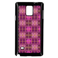 Mod Pink Purple Yellow Square Pattern Samsung Galaxy Note 4 Case (black)