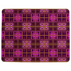 Mod Pink Purple Yellow Square Pattern Jigsaw Puzzle Photo Stand (rectangular)