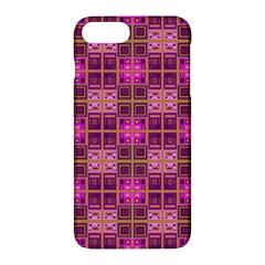 Mod Pink Purple Yellow Square Pattern Apple Iphone 7 Plus Hardshell Case