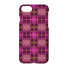 Mod Pink Purple Yellow Square Pattern Apple Iphone 7 Hardshell Case