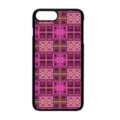 Mod Pink Purple Yellow Square Pattern Apple Iphone 7 Plus Seamless Case (black)