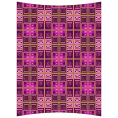 Mod Pink Purple Yellow Square Pattern Back Support Cushion