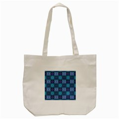 Mod Purple Green Turquoise Square Pattern Tote Bag (cream)