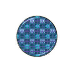 Mod Purple Green Turquoise Square Pattern Hat Clip Ball Marker (10 Pack)