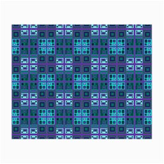Mod Purple Green Turquoise Square Pattern Small Glasses Cloth
