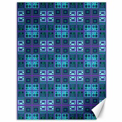 Mod Purple Green Turquoise Square Pattern Canvas 36  X 48