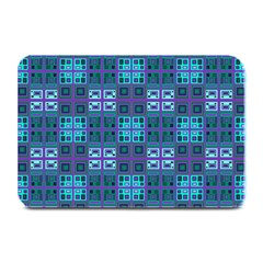 Mod Purple Green Turquoise Square Pattern Plate Mats
