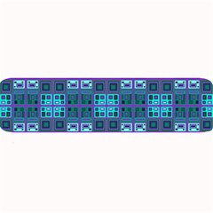 Mod Purple Green Turquoise Square Pattern Large Bar Mats