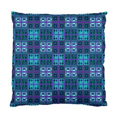 Mod Purple Green Turquoise Square Pattern Standard Cushion Case (two Sides)
