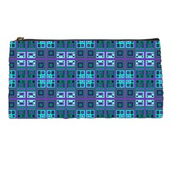 Mod Purple Green Turquoise Square Pattern Pencil Cases