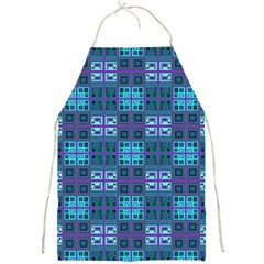 Mod Purple Green Turquoise Square Pattern Full Print Aprons