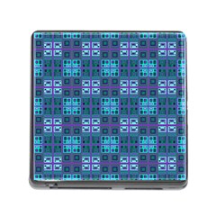 Mod Purple Green Turquoise Square Pattern Memory Card Reader (square 5 Slot)