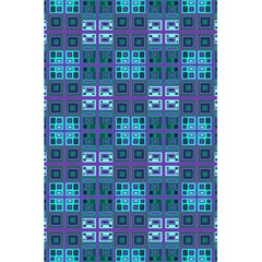Mod Purple Green Turquoise Square Pattern 5 5  X 8 5  Notebook