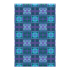 Mod Purple Green Turquoise Square Pattern Shower Curtain 48  X 72  (small)