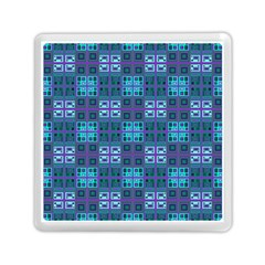 Mod Purple Green Turquoise Square Pattern Memory Card Reader (square)