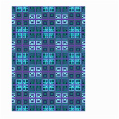Mod Purple Green Turquoise Square Pattern Large Garden Flag (two Sides)