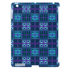 Mod Purple Green Turquoise Square Pattern Apple Ipad 3/4 Hardshell Case (compatible With Smart Cover)
