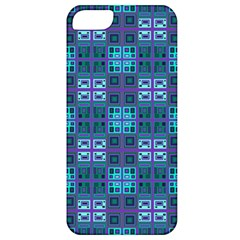 Mod Purple Green Turquoise Square Pattern Apple Iphone 5 Classic Hardshell Case